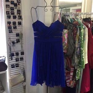 Cache size 6 electric blue dress